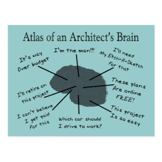 Atlas of an Architect's Brain Postcard