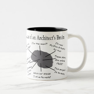 Atlas of an Architect's Brain Two-Tone Mug