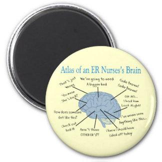 Atlas of an ER Nurse's Brain Gifts 6 Cm Round Magnet