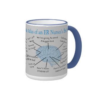 Atlas of an ER Nurse's Brain Gifts Ringer Mug