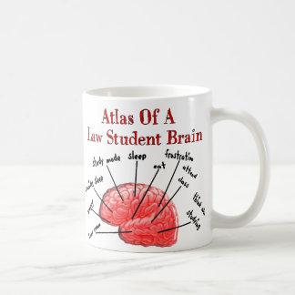 Atlas of Law Student Brain Basic White Mug
