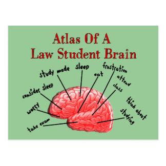 Atlas of Law Student Brain Postcard