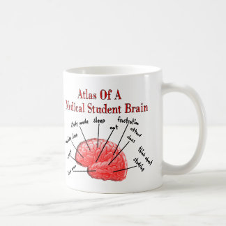 Atlas of Medical Student Brain Basic White Mug