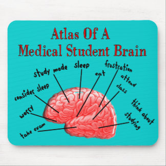 Atlas of Medical Student Brain Mouse Pad
