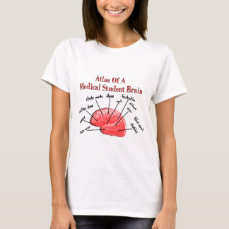 Atlas of Medical Student Brain T-Shirt