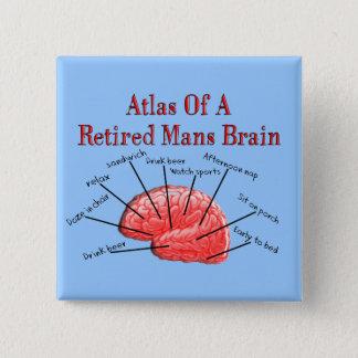 Atlas of Retired Mans Brain 15 Cm Square Badge