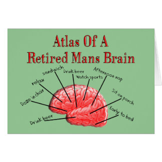 Atlas of Retired Mans Brain Greeting Card