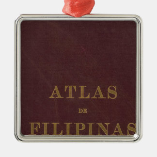 Atlas of the Philippines Silver-Colored Square Decoration
