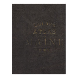 Atlas of the State of Maine Postcard
