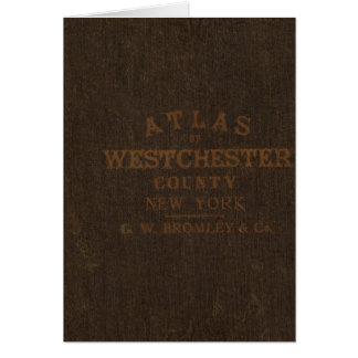 Atlas of Westchester County, NY Card