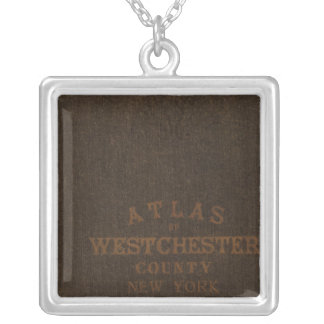 Atlas of Westchester County, NY Silver Plated Necklace