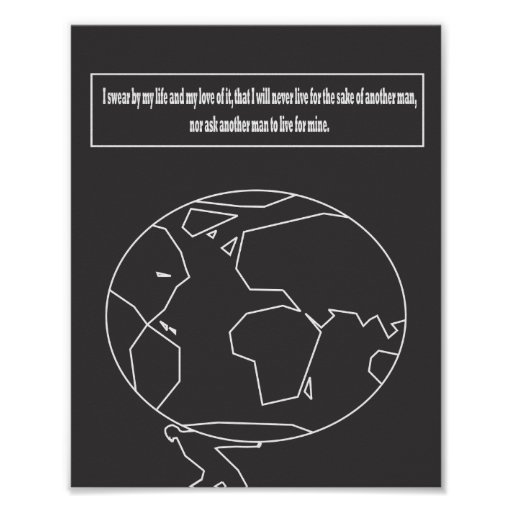 Atlas Shrugged quote Poster