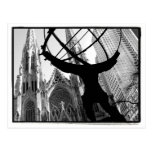 Atlas & St. Patrick's Cathedral Postcard