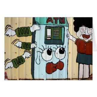 ATM Cash machine Greeting Card
