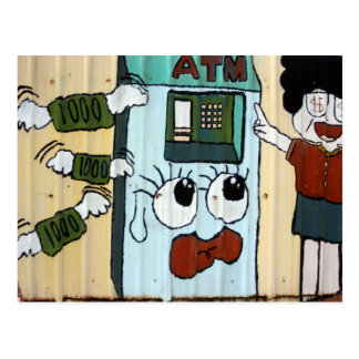 ATM cash machine Postcard
