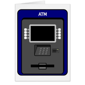 ATM Machine Greeting Cards