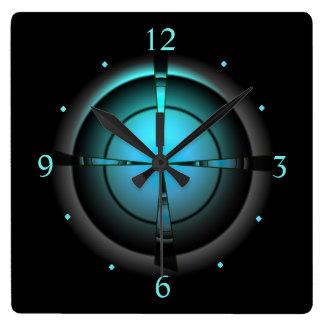 Atmospheric in Green/Aqua/Black > Wall Clock