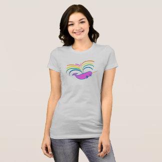Atmospheric Narwhal - slightly smaller, higher up T-Shirt