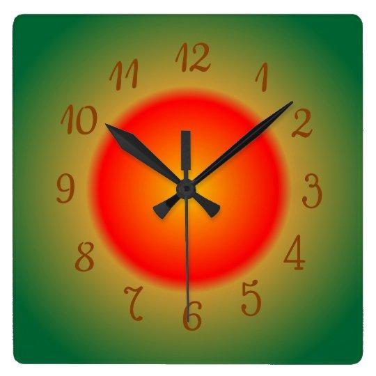 Atmospheric Orange/Red and Green > Kitchen Clocks