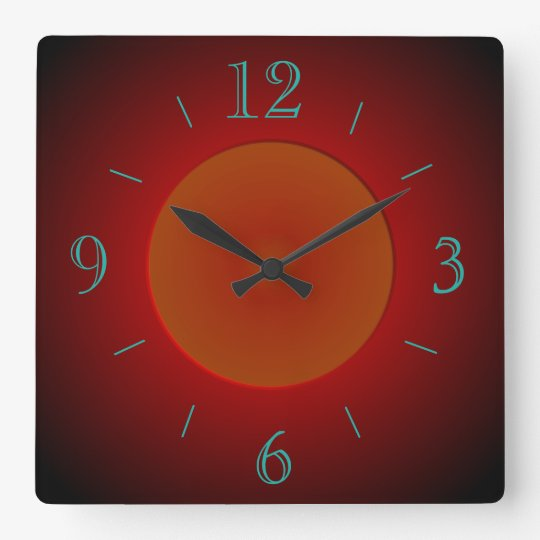 Atmospheric Red/Orange with Glow > Wall Clock