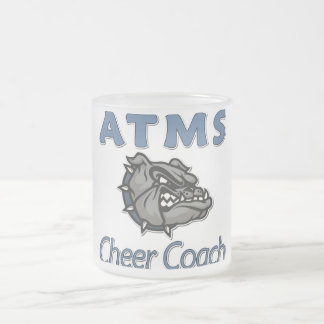 ATMS Cheer COACH 10 Oz Frosted Glass Coffee Mug