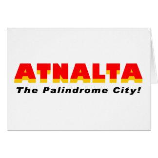 Atnalta: The Palindrome City Greeting Card