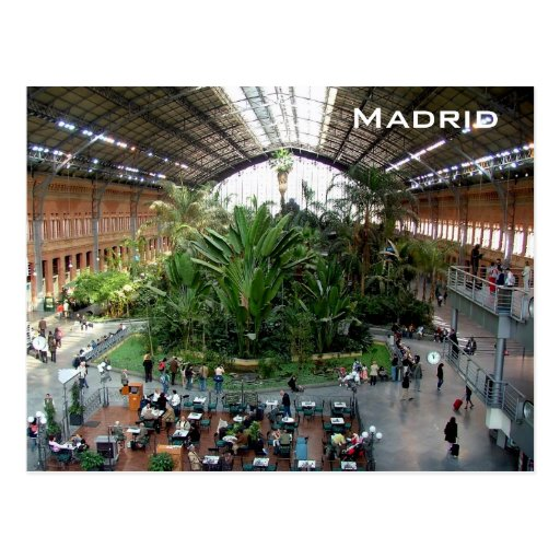 Atocha railroad station postcard