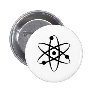 atom black pinback button