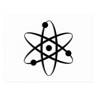 atom black postcard