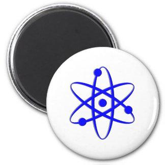 atom blue fridge magnets