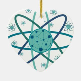 Atom Ceramic Heart Decoration