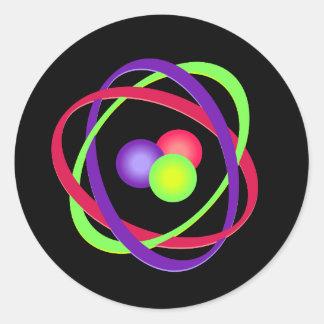 Atom Classic Round Sticker