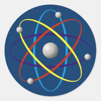Atom (color) round sticker