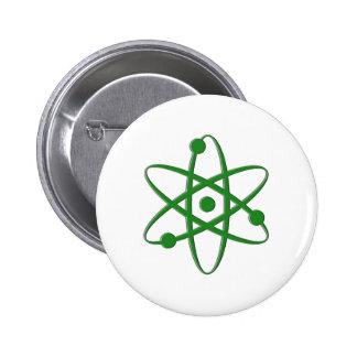 atom dark green pin