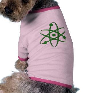atom dark green dog t-shirt