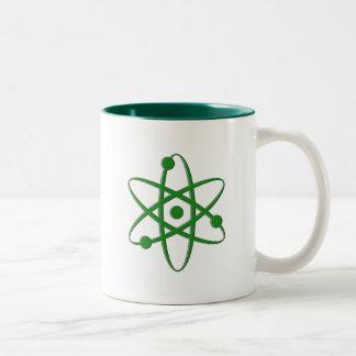 atom dark green coffee mug