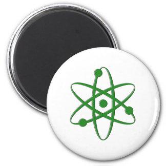 atom dark green refrigerator magnet