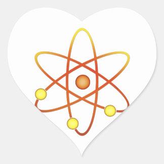 Atom Heart Sticker