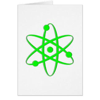 atom light green greeting card
