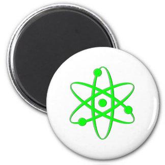 atom light green fridge magnets