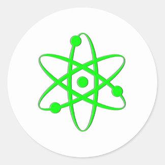 atom light green round sticker