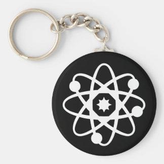 Atom Nucleus Basic Round Button Key Ring