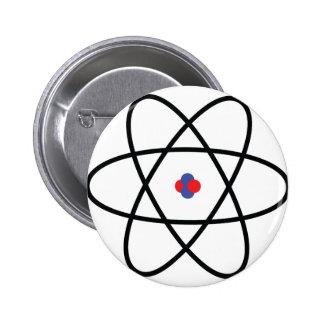 atom nucleus chemistry 6 cm round badge