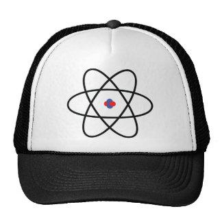 atom nucleus chemistry trucker hat