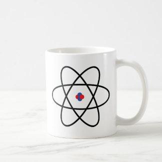 atom nucleus chemistry coffee mug