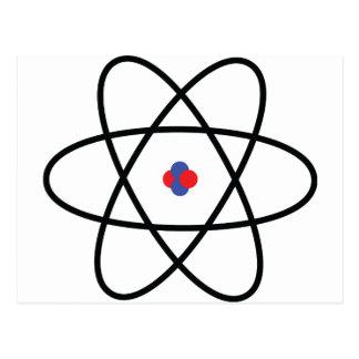atom nucleus chemistry postcard