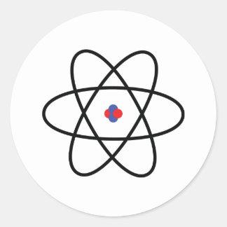 Atom Nucleus Round Sticker