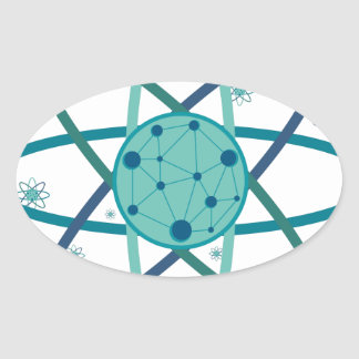 Atom Oval Sticker