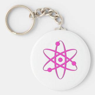 atom pink key chains