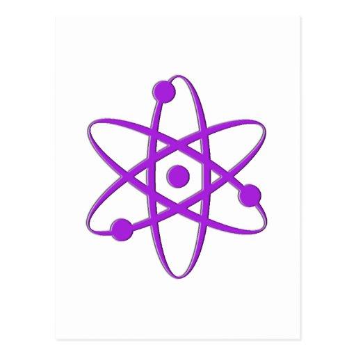 atom purple post cards